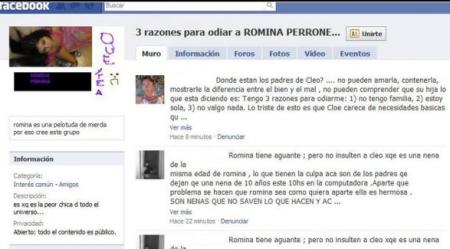 Una niña de 10 años es acosada en Facebook